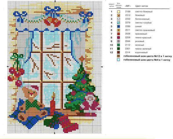 Схемы вышивки риолис дома